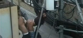 Hot couple from Argentina having sex in terrace stolen video